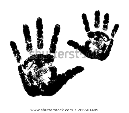 Lenyomat gyermek kezek fehér papír textúra Stock fotó © jirkaejc