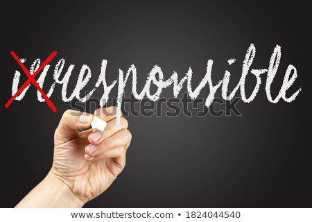 schoolbord · schrijven · verantwoordelijk · zwarte · boord · schrijven - stockfoto © raywoo