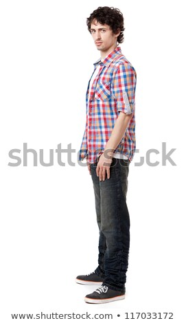 Profile shot of smart young boy posing casually Stock photo © stockyimages