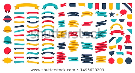Set of vector ribbons Stock photo © szabore