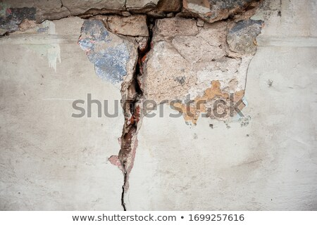 broken wall with smudged paint stock photo © sirylok