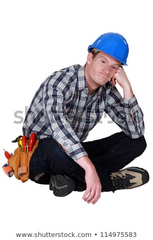 bored manual worker sat cross legged stock photo © photography33