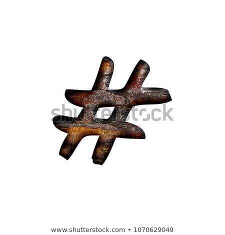 pound symbol in wood type stock photo © pixelsaway