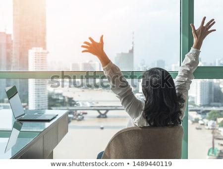 Trabalhar empresário fora dia secretária Foto stock © jayfish