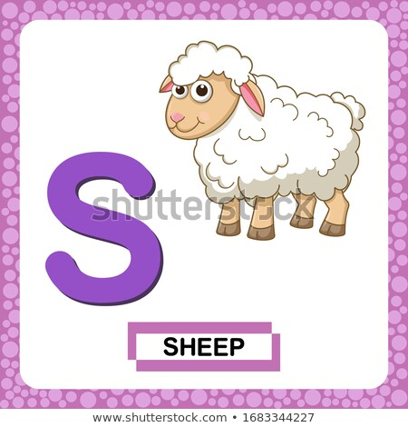Animal alphabet with lamb  Stock photo © kariiika