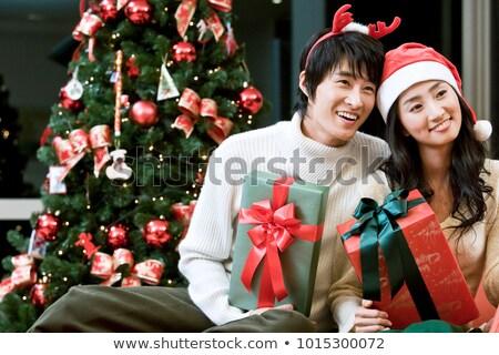 Рождества · ожидание · подарки · свет · фон · красный - Сток-фото © photography33