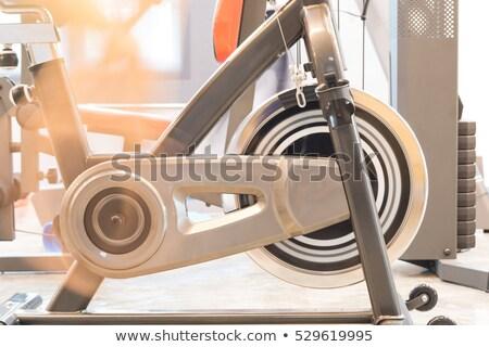 Vrouw home slaapkamer gelukkig sport Stockfoto © wavebreak_media