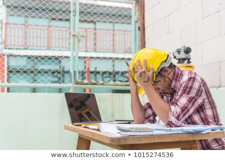 Crying construction worker Stock photo © photography33