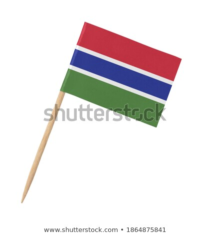 Miniature Flag of Gambia (Isolated) stock photo © bosphorus