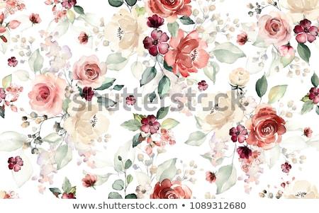 virágmintás · tapéta · csodálatos · végtelenített · virágok · háttér - stock fotó © ozaiachin