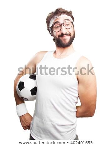 karikatür · futbolcu · izometrik · vektör · sanat · örnek - stok fotoğraf © pcanzo
