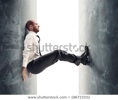 Presión metáfora ilustración empresario negocios oficina Foto stock © rudall30