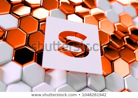 Enveloppe symbole hexagone bouton 3D Photo stock © marinini