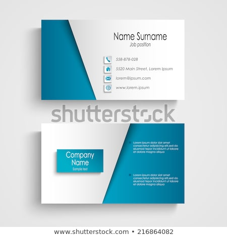 Business card designs for trades Stock photo © ronfromyork