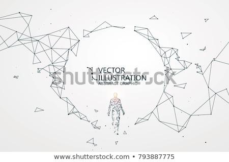 интеллект аннотация дизайна фон мозг машина Сток-фото © 4designersart