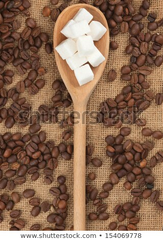 Lump sugar lying on burlap Stock photo © alekleks