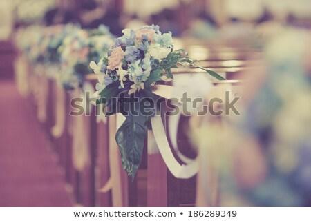 цветы Церкви свадьба Сток-фото © KMWPhotography