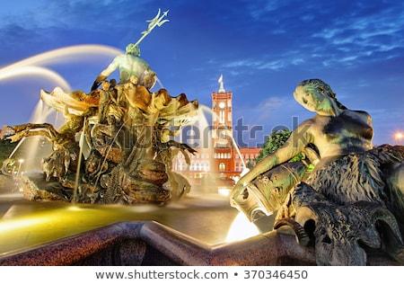 噴水 アレクサンダー広場 ベルリン ドイツ 建物 市 ストックフォト © eldadcarin