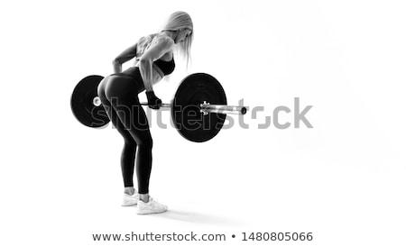 çekici · genç · kadın · uygunluk · antreman · spor - stok fotoğraf © juniart