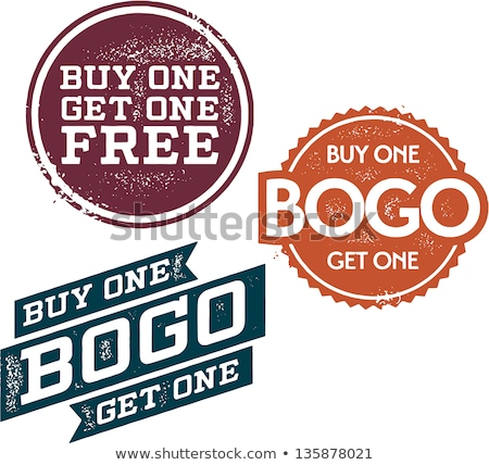 BOGO - Buy One Get One Free Retail Sale Stamps stock photo © squarelogo