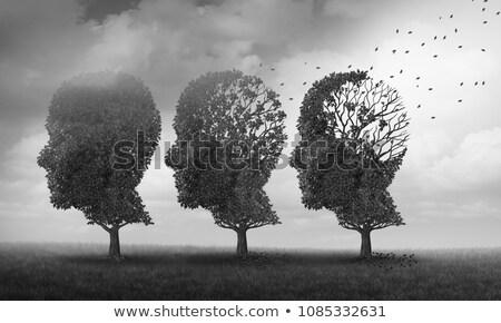 öregedés memóriazavar elmebaj Alzheimer-kór orvosi ikon Stock fotó © Lightsource