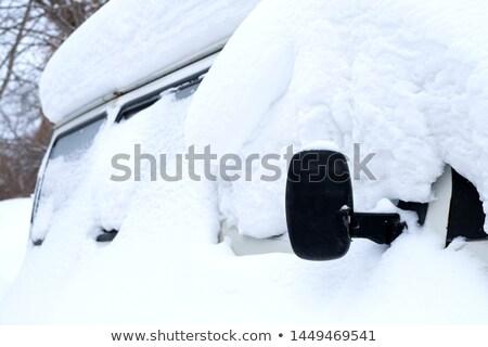 Carro roda neve nevasca pneu Foto stock © Snapshot