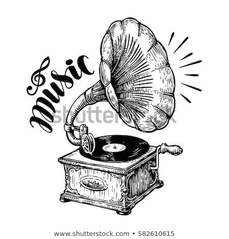 Jogar gramofone antigo Foto stock © zzve