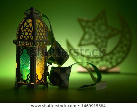 Egípcio lanterna bokeh abstrato chamar Egito Foto stock © giko
