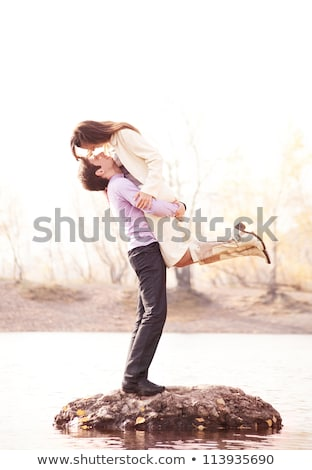 Tenderness. Couple of Young Stylish People Embracing. Affection Stock photo © gromovataya