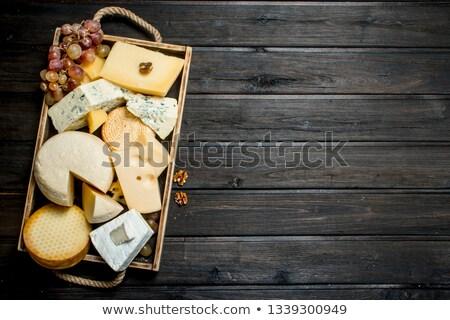 前菜 · トレイ · 果物 · ナッツ · 垂直 · ショット - ストックフォト © saddako2