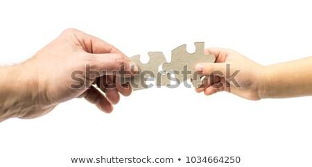 Kölcsönös kapcsolatok kép metafora szeretet barátság Stock fotó © grechka333