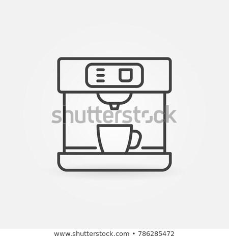 Vector icon coffee machine Stock photo © zzve