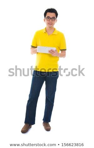 egészalakos · ázsiai · felnőtt · diák · férfi · lezser - stock fotó © szefei