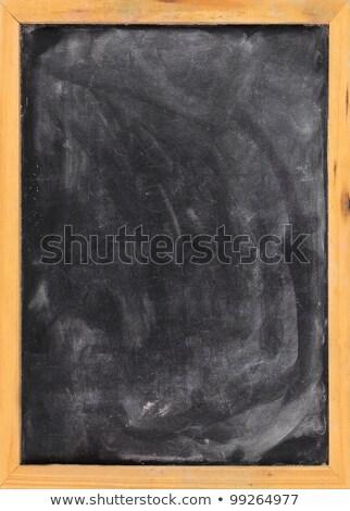 lousa · branco · giz · poeira · moldura · de · madeira · apagador - foto stock © pixelsaway