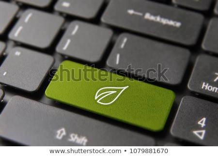 recycle symbol on a computer keyboard stock photo © redpixel