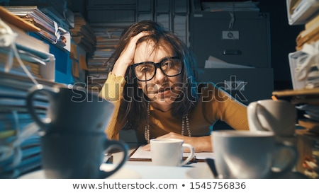 tired secretary stock photo © pressmaster