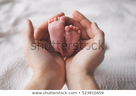 mãe · criança · tocante · palms · mulher · mão - foto stock © mikko