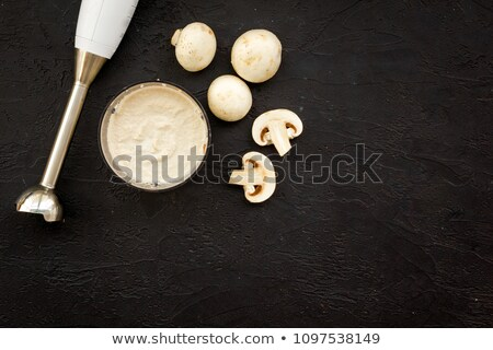 Friss gomba champignon leves előkészített robotgép Stock fotó © tannjuska