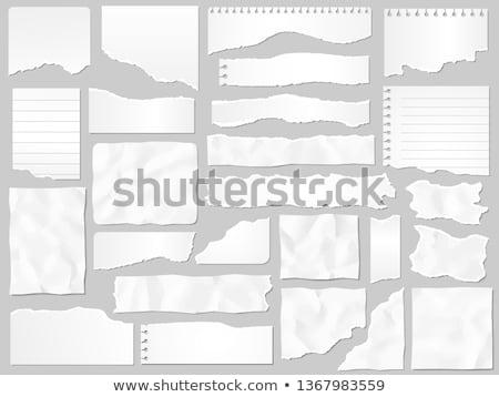 Grunge kâğıt parçalar toplama beyaz arka plan Stok fotoğraf © ryhor