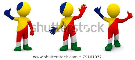 3d character textured with flag of Seychelles Stock photo © Kirill_M