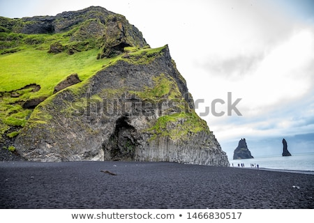 Dramatic View of Basalt Columns on the Coast Stock photo © wildnerdpix