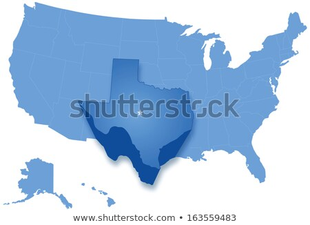 Map of States of the United States where Texas is pulled out Stock photo © Istanbul2009
