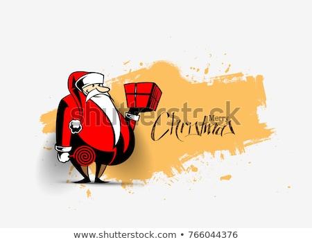 漫画 · サンタクロース · 吹き出し · 手 · クレイジー · クリスマス - ストックフォト © bisams