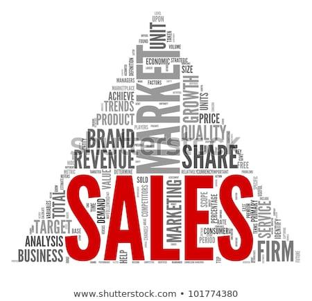 ventes · croissance · graphique · icône · jaune - photo stock © tashatuvango