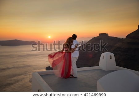 wedding couple in romantic setting stock photo © kzenon