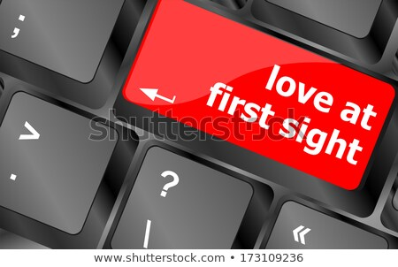 love at first sight keyboard with computer key button stock photo © fotoscool
