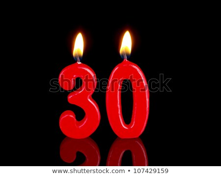 Burning birthday candles number 30 Stock photo © Zerbor