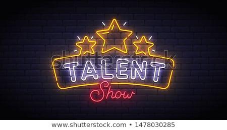 Talent stron definicja słowo papieru niebieski Zdjęcia stock © devon