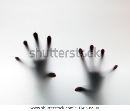 sikoly · segítség · halloween · izolált · fekete · textúra - stock fotó © photocreo