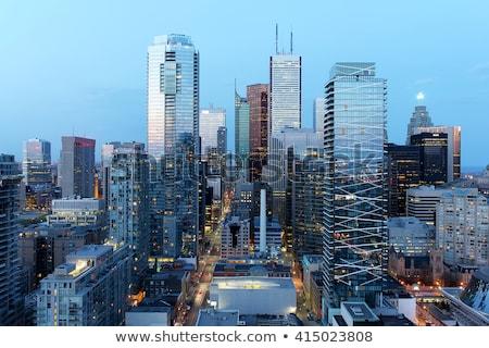 toronto · linha · do · horizonte · reflexão · água · céu · edifício - foto stock © blamb